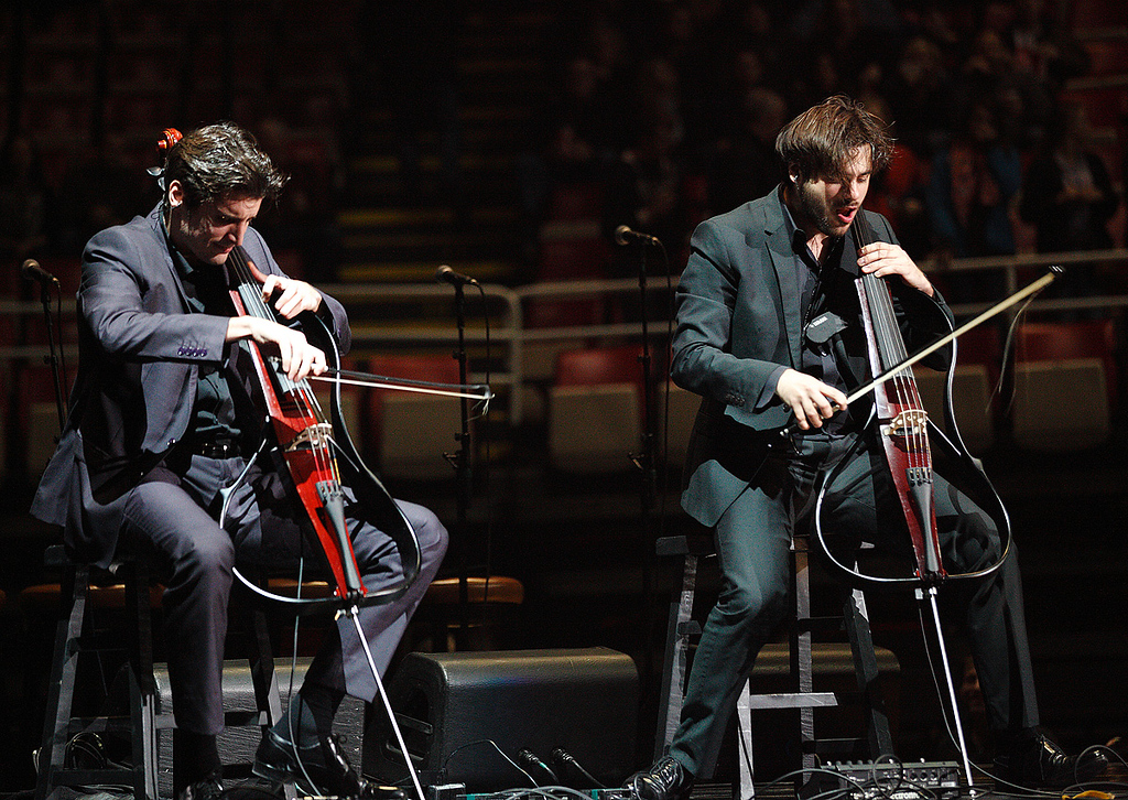 Description of . 2Cellos opened for Elton John at Joe Louis Arena on Friday night. Photo by Ken Settle