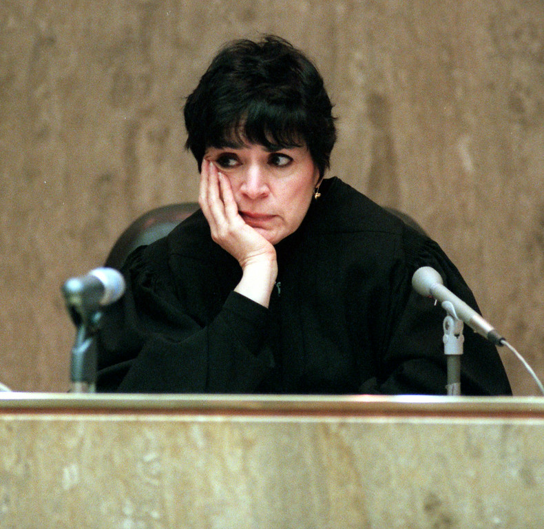 . Oakland County Circuit Judge Jessica Cooper presides over the first-degree murder trial Dr. Jack Kevorkian Monday.