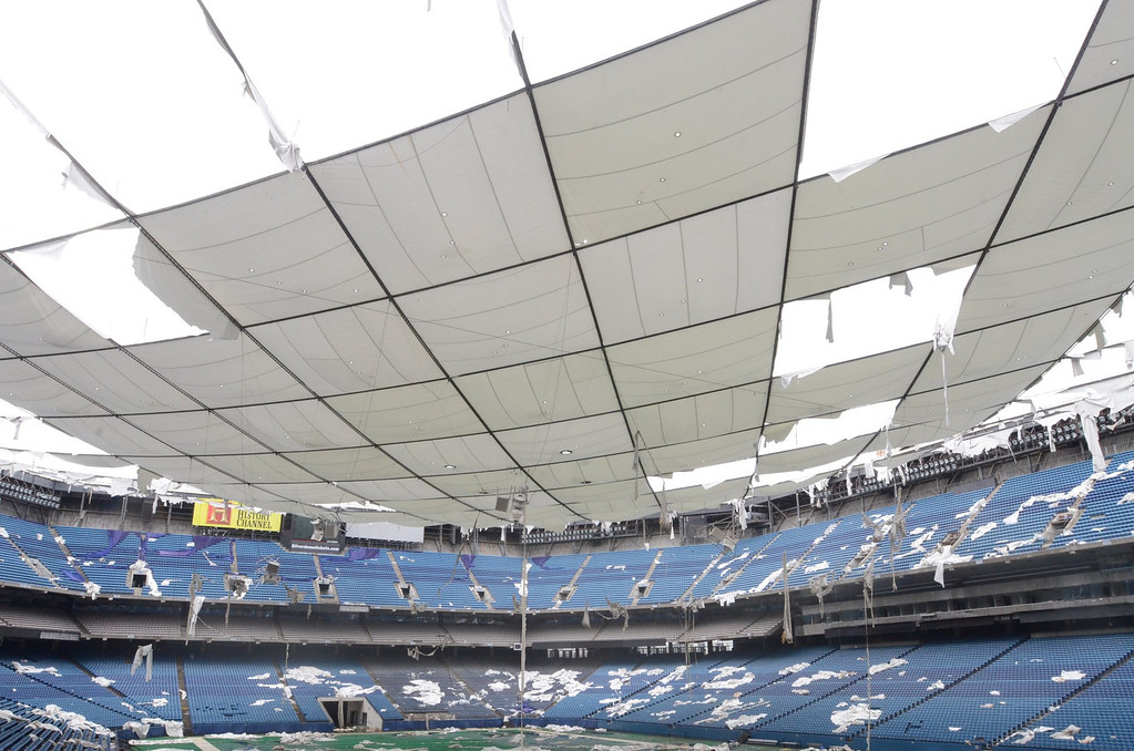 . The deflated Pontiac Silverdome.    Wednesday, April 30, 2014.  Tim Thompson-The Oakland Press