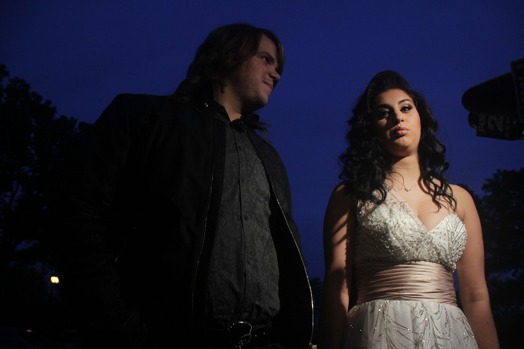 . Jena Irene Asciutto attends prom with �American Idol� winner Caleb Johnson. Erin Hampton - Special to The Oakland Press