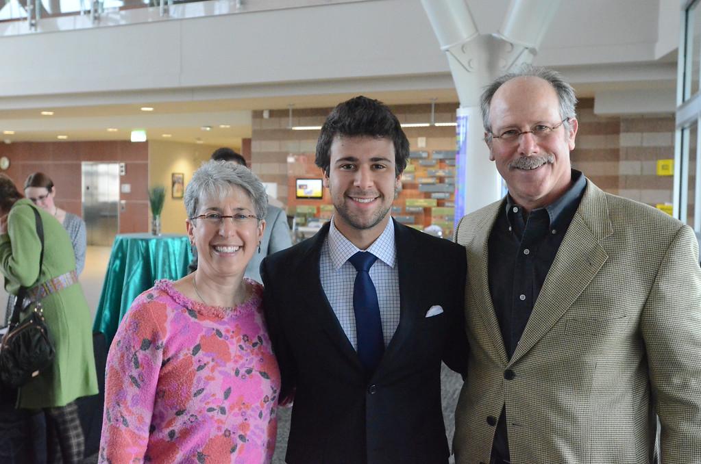 . Jacob Behrmann, Berkley High School, was named top Oakland County senior, receiving an $800 award.