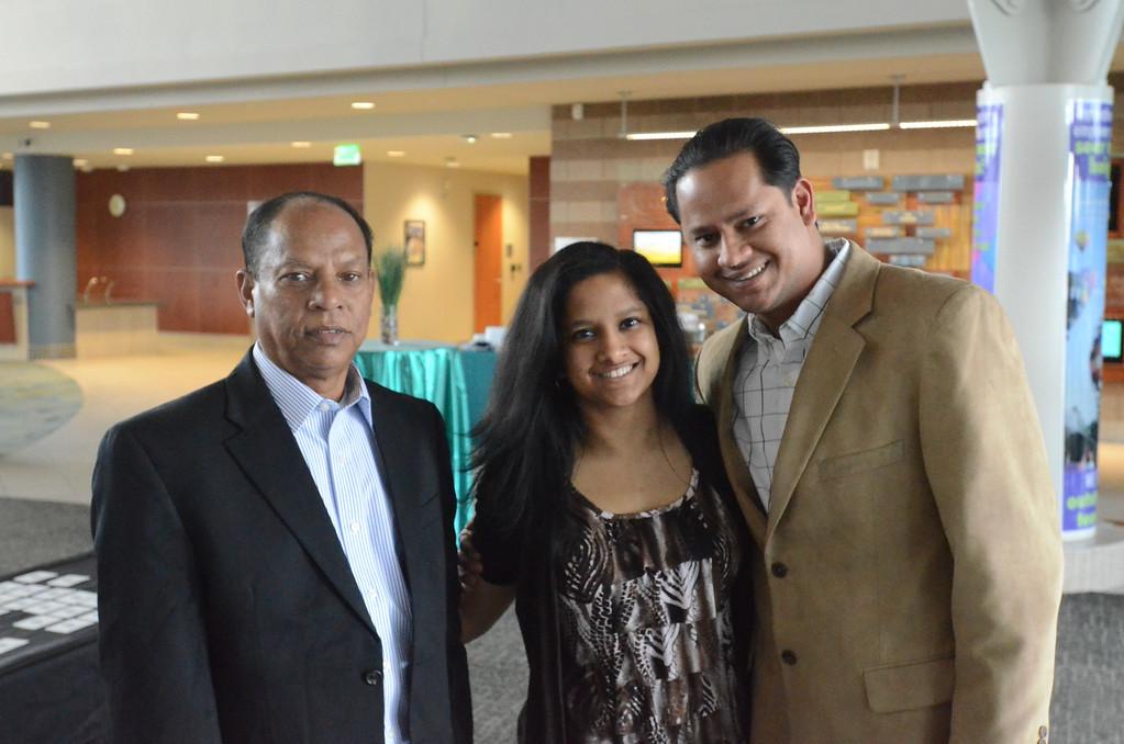 . Shitara Joya of Rochester High School with family