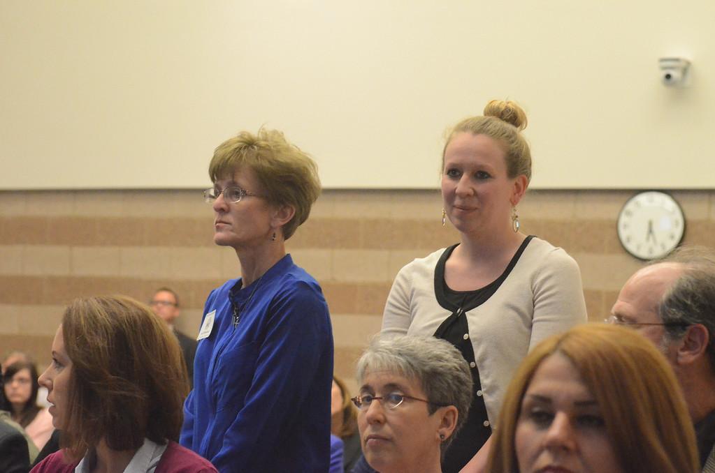 . Megan Goodrmoot, principal, and Laura Weakland, 4th grade teacher, at Dolsen Elementary School in New Hudson.