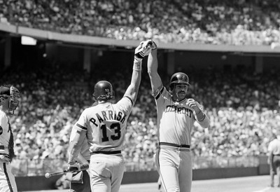 Detriot Tigers Kirk Gibson and Lance Parrish