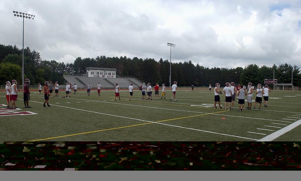 . Milford High School\'s football field.