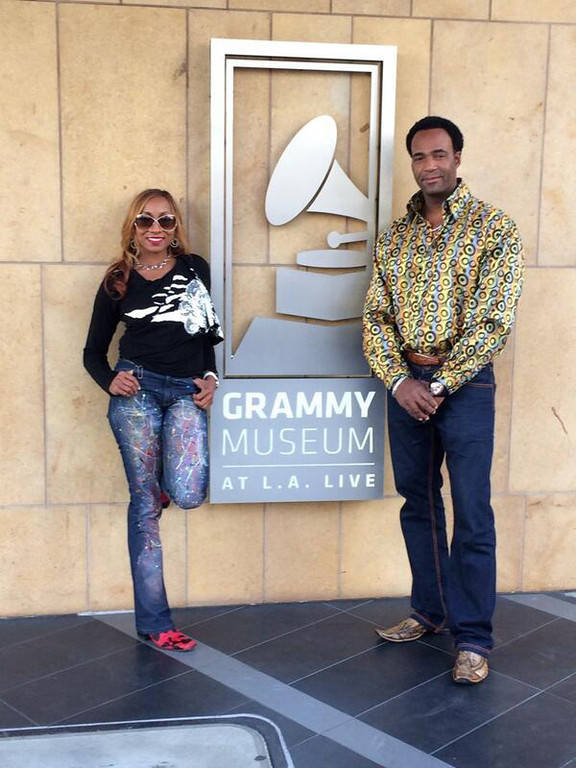 . Yolanda and Marcus Glenn at the Grammy Museum in Los Angeles. Photo courtesy @MarcusGlennart on Twitter