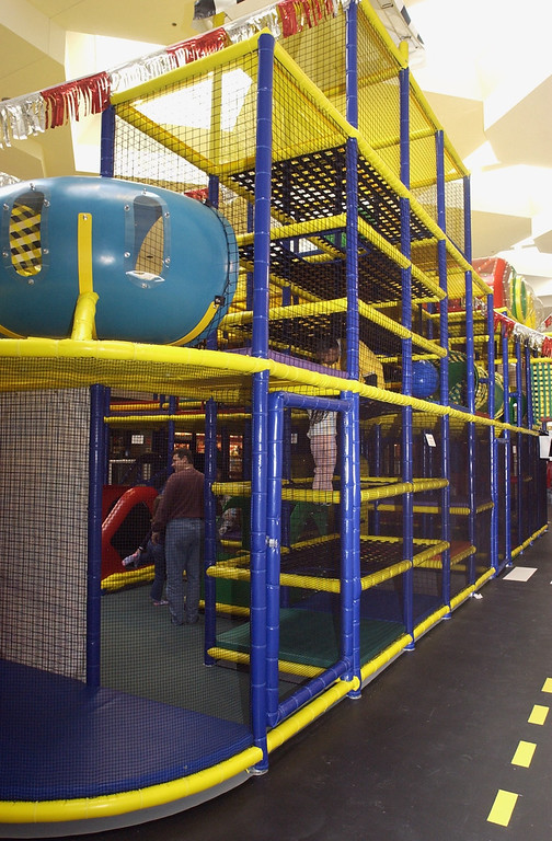. A view of a small portion of the new Summit Place Mall Play Area.