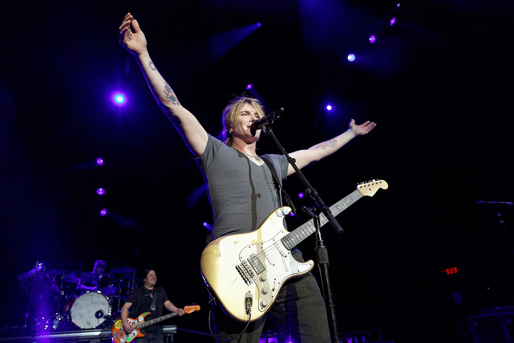 . John Rzeznik of The Goo Goo Dolls at DTE on July 2, 2014. Photo by Ken Settle