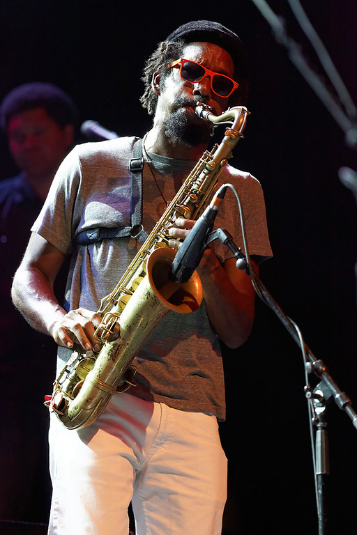 . Kebbi Williams of Tedeschi Trucks Band performs at Freedom Hill Amphitheatre on Tuesday, June 17.  Photo by Ken Settle