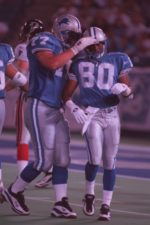 . Tommie Boyd, right, wide reciever for the Detroit Lions.