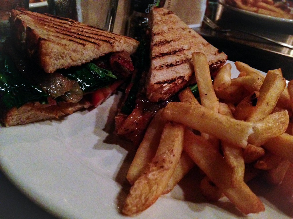 . B.K.T.D. sandwich at Republica in Berkley. Photo by Lori Yates.