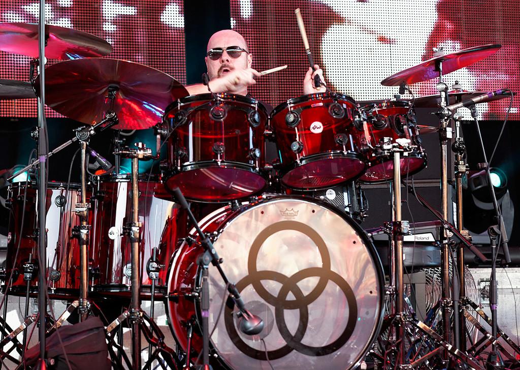 . Jason Bonham with Sammy Hagar\'s band at Freedom Hill on 7-23-14. Photo by Ken Settle