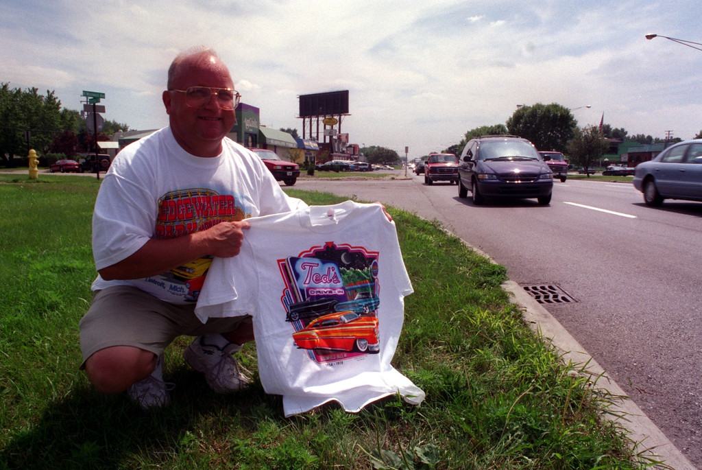 . Bill Christner will be selling his official Ted\'s Drive-In Stuff during the Woodward Dream Cruise this Saturday.
