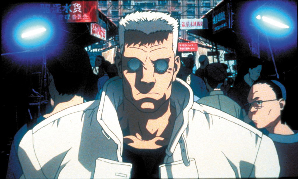 """. A still from the anime movie \""""Ghost in the Shell\"""" is part of the exhibit \""""Watch Me Move: The Animation Show\"""" at the Detroit Institute of Arts."""
