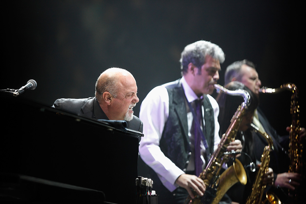 . Billy Joel with his saxophonist, Mark Rivera, perform at The Palace of Auburn Hills on Saturday, Feb. 15, 2014. Photo by Ken Settle