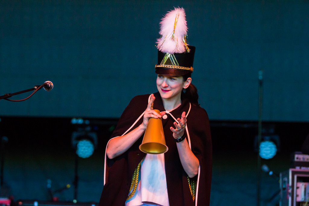 . Accompanied by a full ensemble band, My Brightest Diamond played a unique multi-instrumental set inside the pavillion at Laneway Festival.