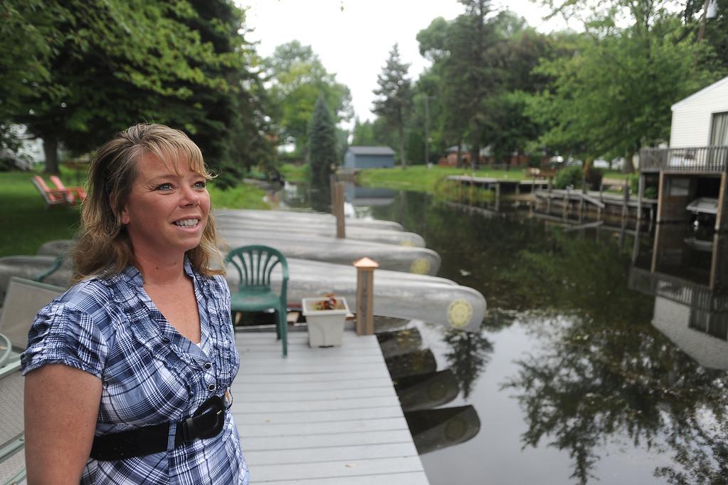 . Kathy Brady operates a canoe rental and bed and breakfast on Harsens Island. (The Macomb Daily/DAVID DALTON)