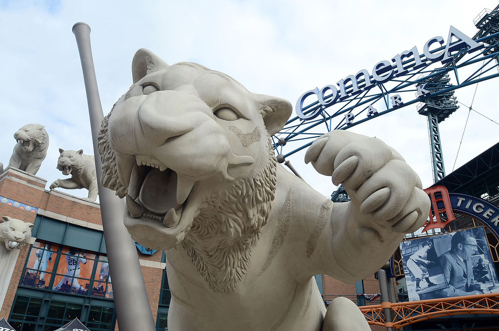 . Comerica Park is the site for Game 3 of the ALDS between the Tigers and Oakland A\'s, Monday October 7, 2013. (Oakland Press Photo:Vaughn Gurganian)