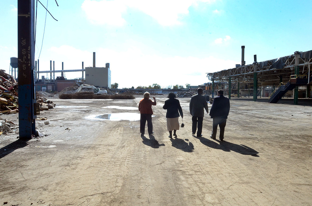 . A proposal to have a waste transfer station at the former Pontiac Fiero plant is being proposed by Chuck Rizzo, President and CEO of Rizzo Environmental Services, pictured Wednesday October 16, 2013. (Oakland Press Photo:Vaughn Gurganian)