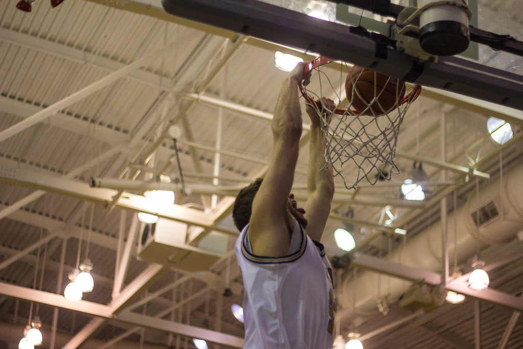 . Petros makes a dunk. Photos by Dylan Dulberg/The Oakland Press