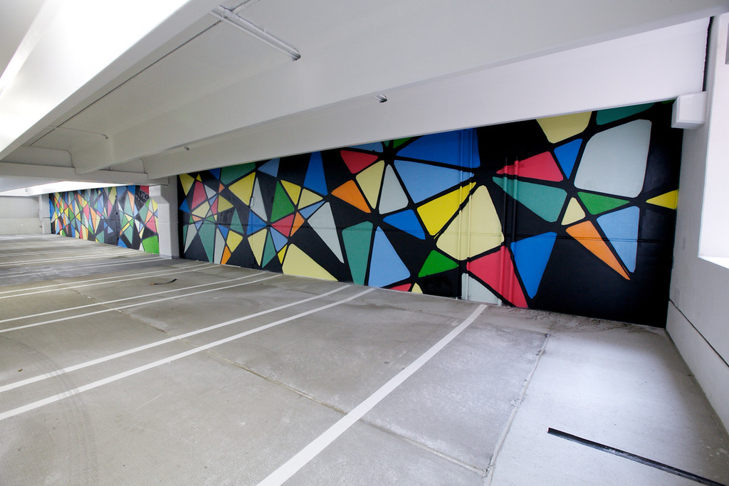 """. One of the murals inside \""""The Z\"""" parking garage, which is now open to the public."""