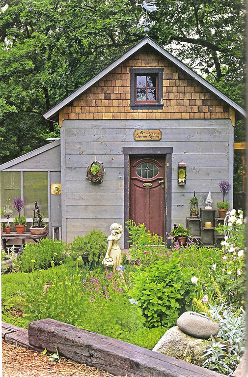 ". OAKLAND OUTINGS COLUMN: Garden shed The garden shed , photo from ""Greenhouses and Garden Sheds\"""