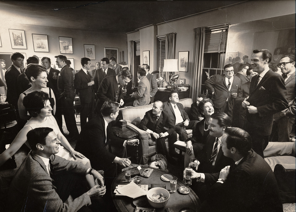 . A cocktail party at George Plimpton�s apartment, 1963 (Photo: Cornell Capa/Laemmle Zeller Films)