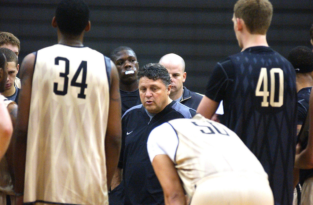 . Oakland University\'s men\'s basketball coach Greg Kampe during media day practice. The Oakland Press/TIM THOMPSON