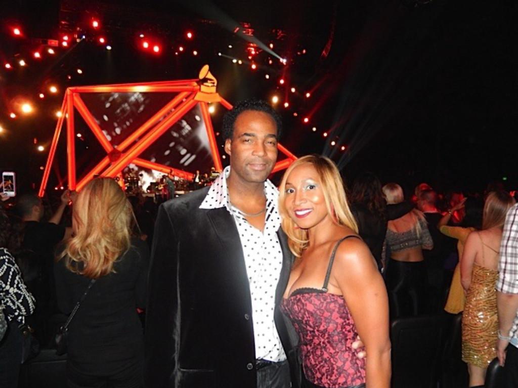 . Marcus and Yolanda Glenn at the Grammy Awards in January 2014. Photo courtesy of Park West Gallery, Southfield