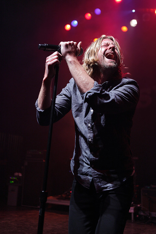 . Jon Foreman of Switchfoot at Fillmore Detroit Thursday night, Dec. 12, 2013. Photo by Ken Settle