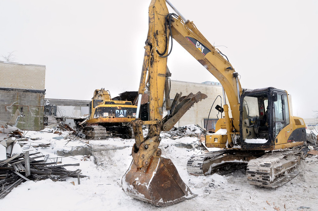 . Demolition of the  Cinema III behind the Summit Place Mall in Waterford Township.    Thursday, February 6, 2014.  Tim Thompson-The Oakland Press