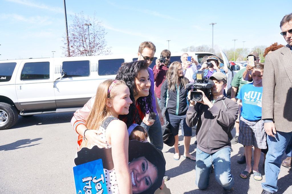 ". ""American Idol\"" contestant Jena Irene of Farmington Hills meets fans in her hometown on May 10, 2014. Photo by John Branstetter"