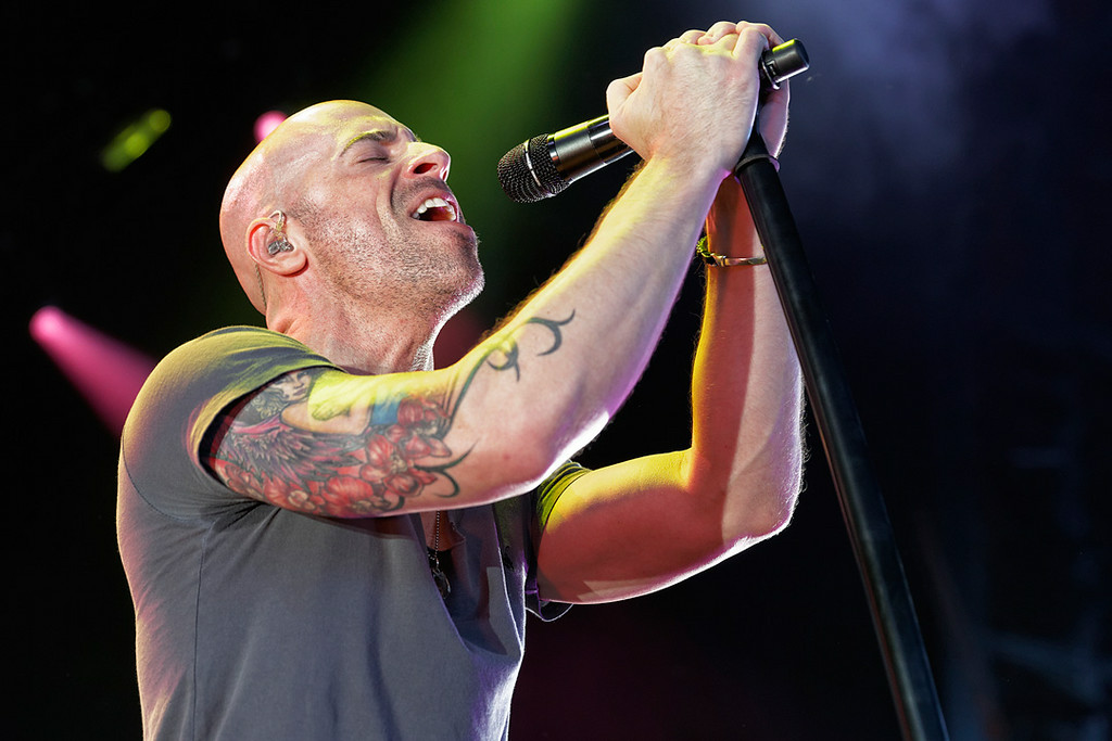 . Chris Daughtry of Daughtry at DTE on July 2, 2014. Photo by Ken Settle