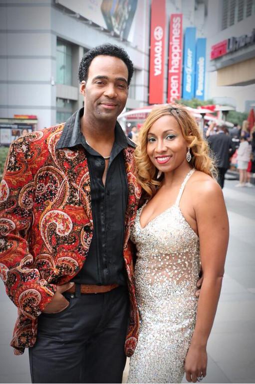 . Marcus and Yolanda Glenn at the Grammys in Los Angeles. Photo courtesy @MarcusGlennart on Twitter