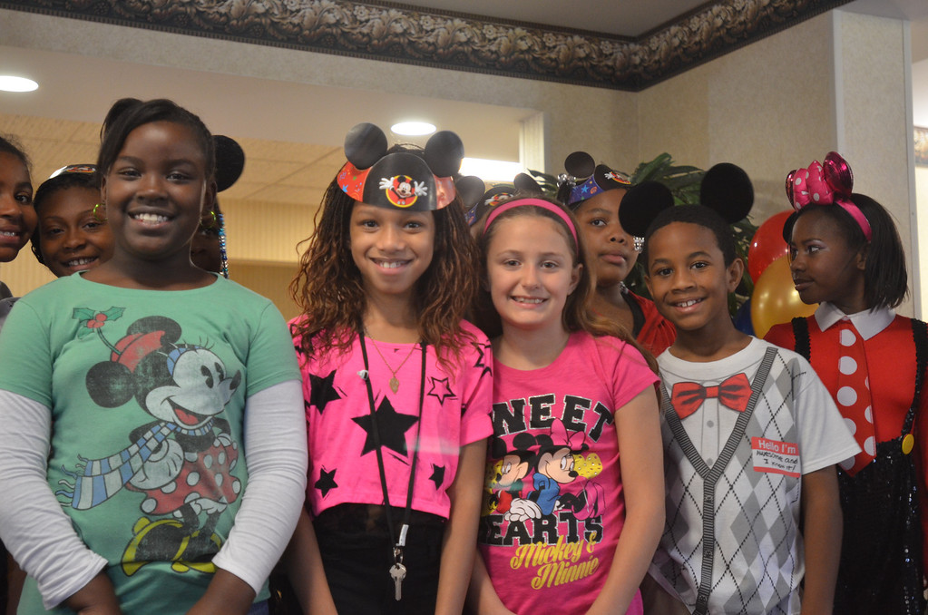 . Kids from Stevenson Elementary School Southfield sang birthday songs for Mickey Mouse at the 85th birthday anniversary party organized by Disney On Ice.