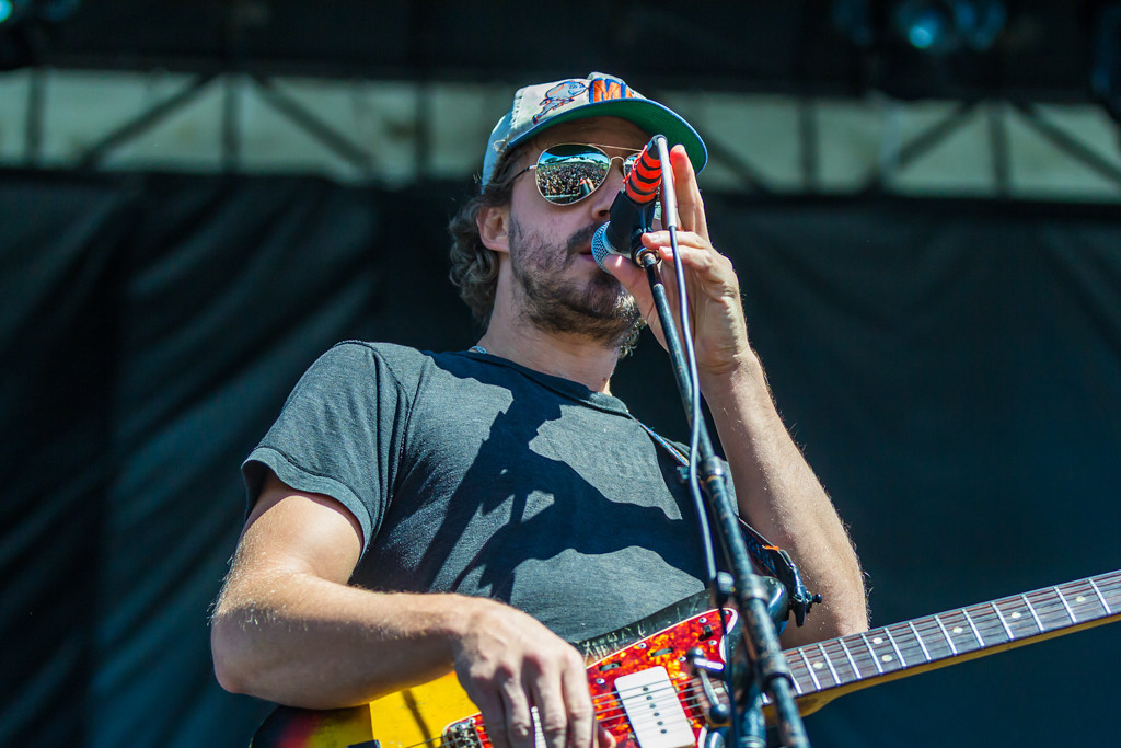 . Phosphorescent, the name of the band behind American singersongwriter Matthew Houck, plays an energetic folksy set to a rapidly-growing crowd.