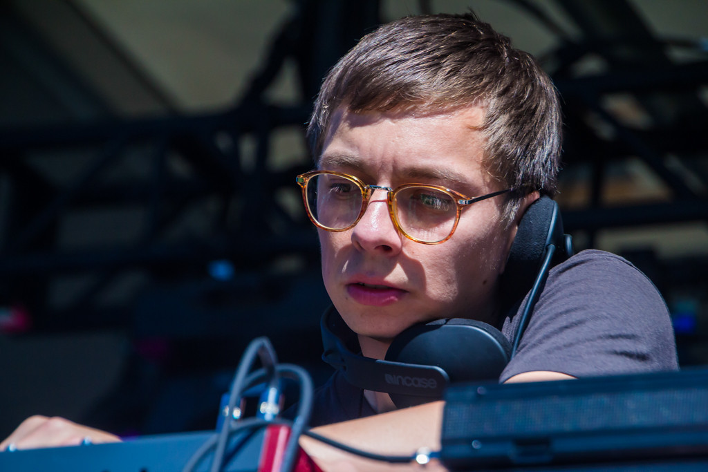 . Australian Electronic musician Heathered Pearls opens up the Movement Stage early on in the day at Laneway Festival.