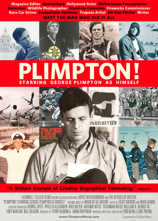 """. A poster for the movie \""""Plimpton! Starring George Plimpton As Himself.�"""