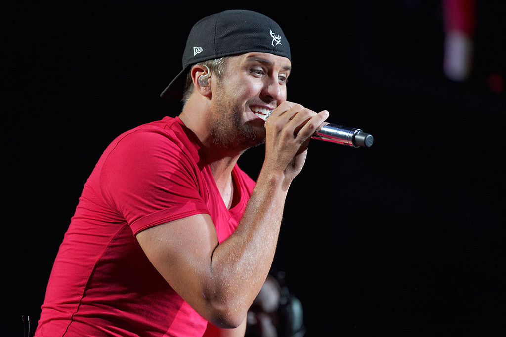 . Luke Bryan performs June 18, 2014, in the first of two concerts at DTE Energy Music Theatre. Photo by Ken Settle