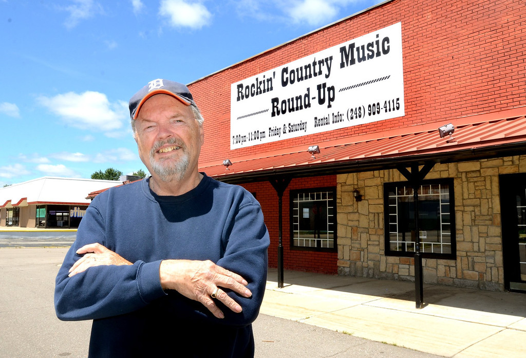 . Dewey Reese outside his new Rockin\' Country Music Round-Up on Elizabeth Lake Road in Waterford.   Wednesday, July 24, 2013.  The Oakland Press/TIM THOMPSON