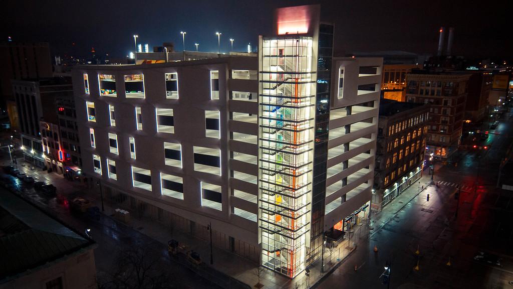 . The Z parking garage in downtown Detroit has been transformed into an international art installation.