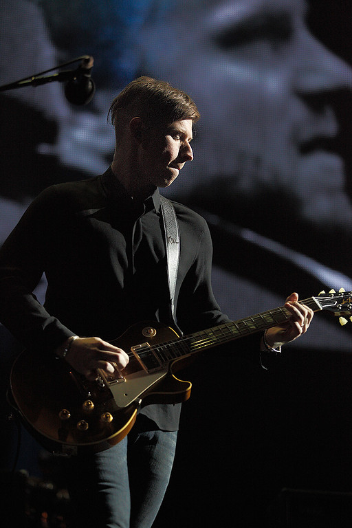 . Matthew Followill of Kings Of Leon performs at The Palace on Feb. 11, 2014. Photo by Ken Settle