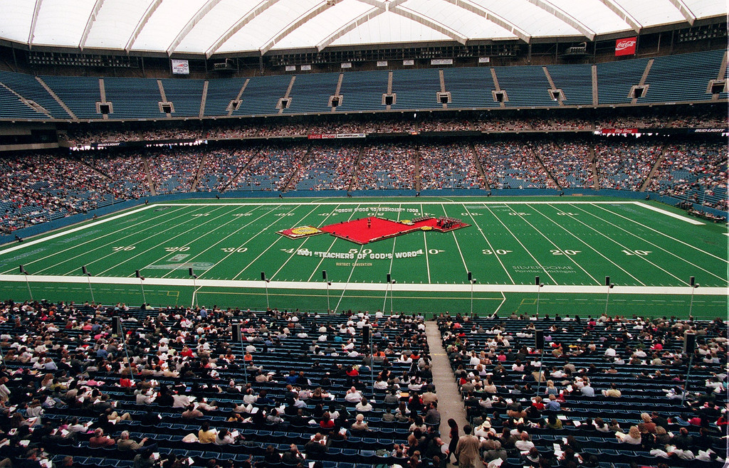 . Jehovah\'s Witnesses gather this weekend at the Pontiac Silverdome for their District Convention. 38,000 people are expected to attend.