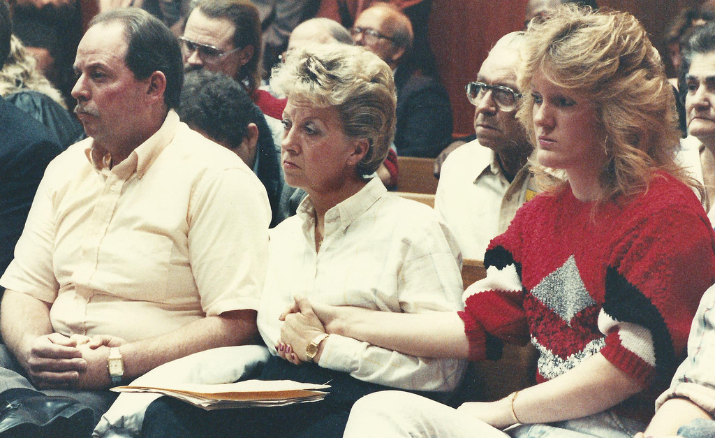 . The Willett family in Oakland County Circuit Court in January 1990. The Oakland Press/file photo