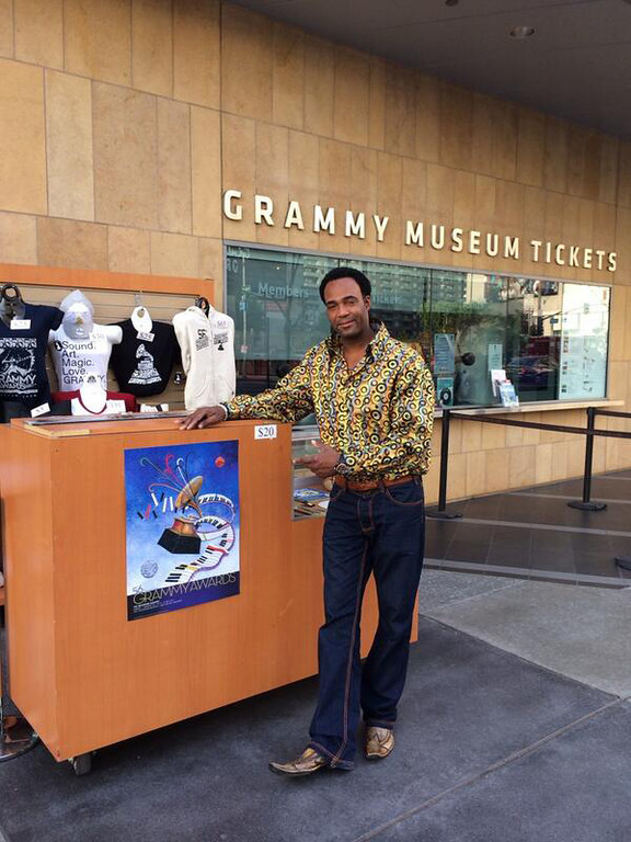 . Marcus Glenn at the Grammy Museum in Los Angeles. Photo courtesy @MarcusGlennart on Twitter