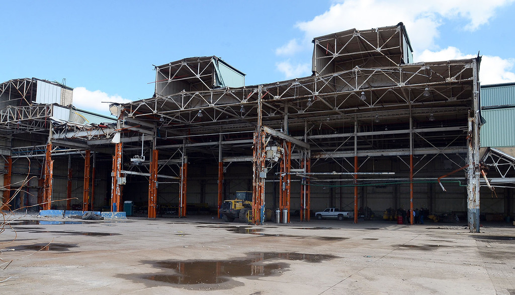 . This section of the former Pontiac Fiero plant could be the site of a proposed waste transfer station, pictured Wednesday October 16, 2013. (Oakland Press Photo:Vaughn Gurganian)