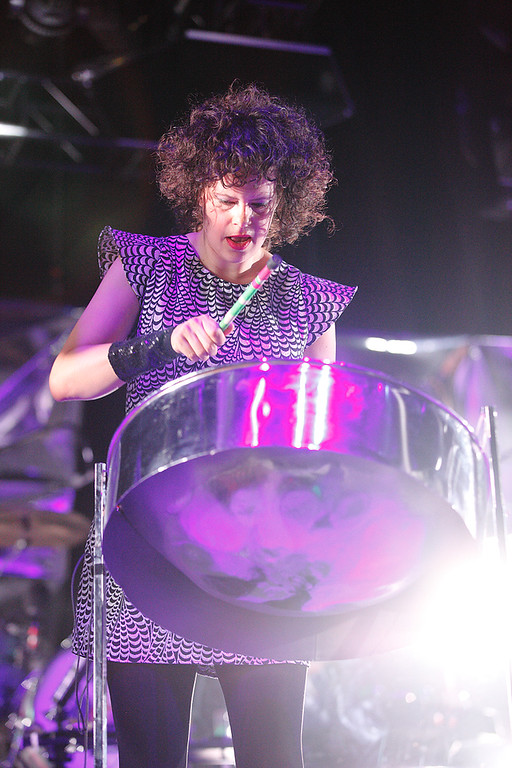 . Regene Chassagne of Arcade Fire performs at The Palace on March 10, 2014. Photo by Ken Settle
