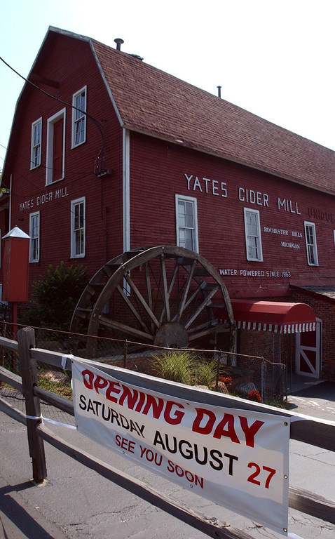 . Yates Cider Mill located on Avon rd in Rochester is open it\'s doors Aug 27th.