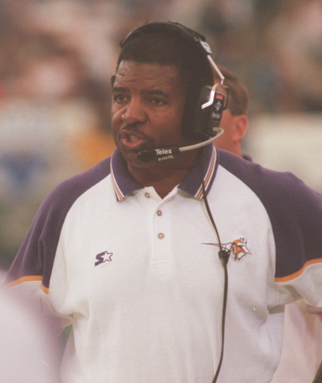 . Minnesota Vikings head coach Dennis Green on the sidelines against at the Detroit Lions at the Pontiac Silverdome.  The Vikings beat the Lions 34-13.