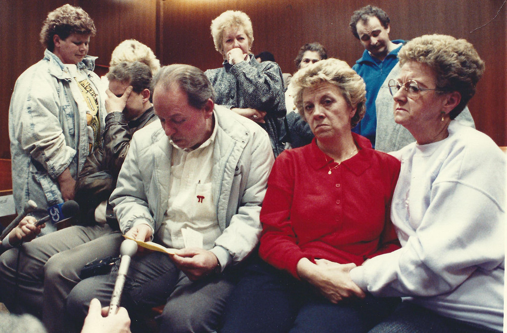 . The Willett family in Oakland County Circuit Court in December 1989. The Oakland Press/file photo